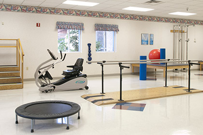 Fir Lane's rehabilitation gym