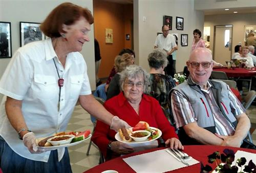 Mondays Thursdays and Fridays Lunch served by Senior services of South Sound at noon