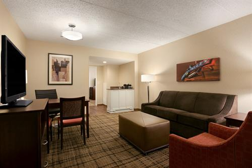 "Suite Living Area with 37"" High Def LCD TV"