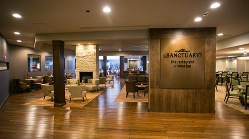 Newly remodeled Sanctuary Restaurant and Wine Bar