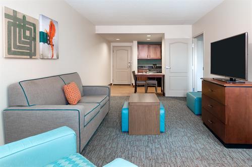 1 Bedroom Suite Living/Kitchen Area