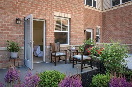 Assisted Living Apartment with Patio