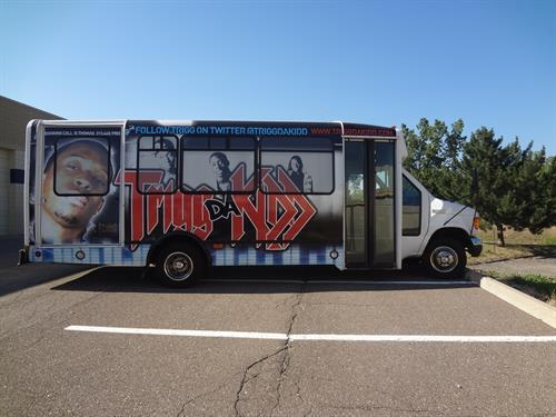 We wrapped a bus for a rapper.