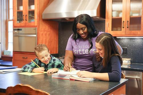 Learning to cook with a College Sitter