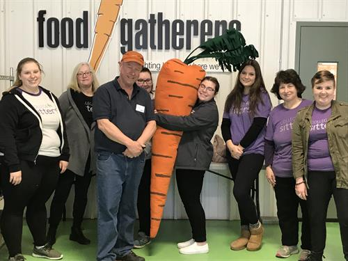 Great day volunteering at Food Gatherers