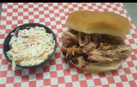Pulled Pork, Brisket, Ribs  or Turkey - you choose the meat and side of slaw, beans, or potato salad