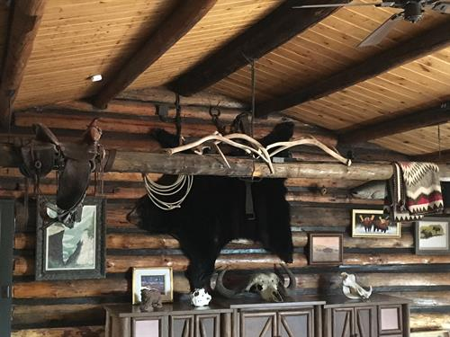 Enjoy the memoirs of the founder of the Z3 ranch while you relax in the living room