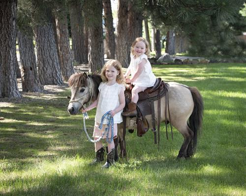 Children's Portraits:  Girls & Horses, a Wyoming tradition that starts early.