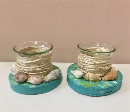 Hand crafted tea light candle holders