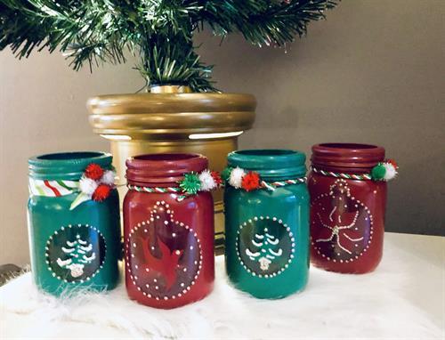 Custom Christmas Mason Jars