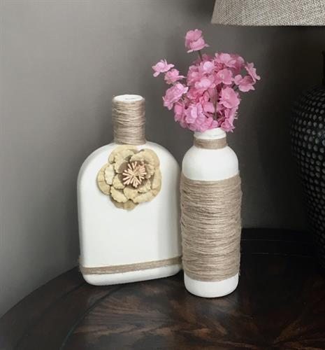 Custom Rustic Bottle Vase Decor