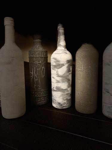 Rustic Upcycled Bottle Decor
