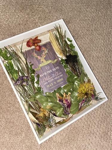 Custom Shadowbox With Dried Flowers