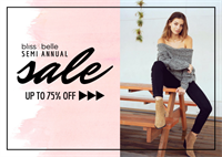 Bliss & Belle Semi Annual Sale!