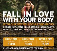 Fall in Love With Your Body with CryoEffect's New Fall Sculpting Packs