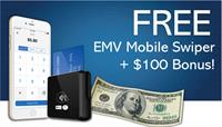 Free EMV Mobile Credit Card Reader + $100 Bonus