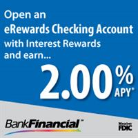 Earn $500 per year with BankFinancial's eRewards Checking!