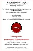 Bring a Friend / Send a Friend and YOU BOTH get a free workout!