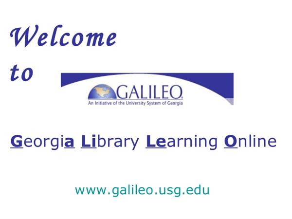 At the library, you have access to Galileo