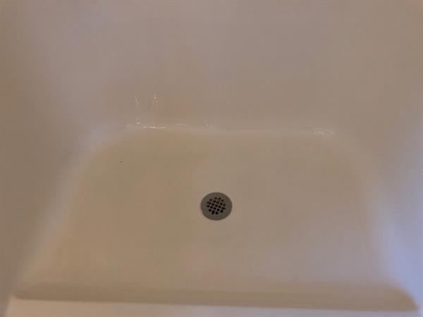 Bathroom shower floor after