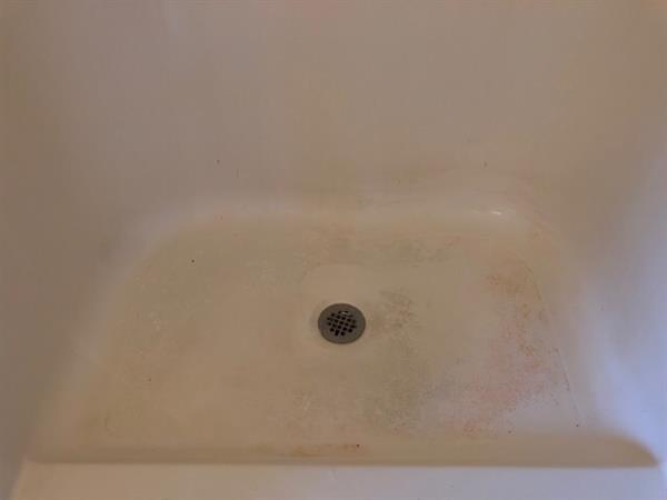 Bathroom shower floor before