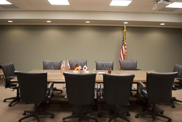 The Stephens County Development Authority conference room located on 31 W. Doyle Street, Toccoa