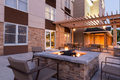 Fire Pit with Patio Seating