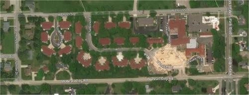 Arial view of Parkview Neighborhood