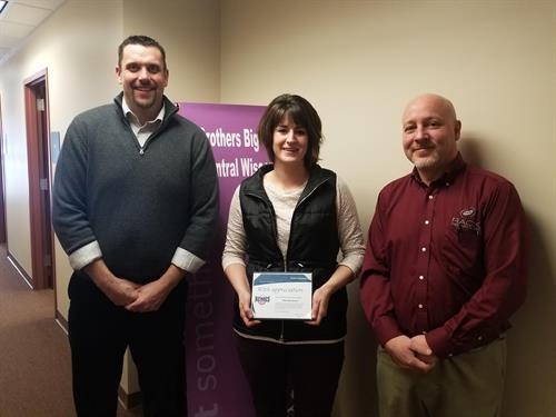 Allie Dorshorst received our Home Town Hero Award, nominated by Dan Blumenstein