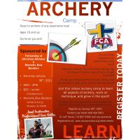Archery Camp sponsored by Fellowship of Christian Athletes