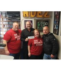 K-tech Charities Donates $10k to WDEZ's St. Judes Research Hospital Fund