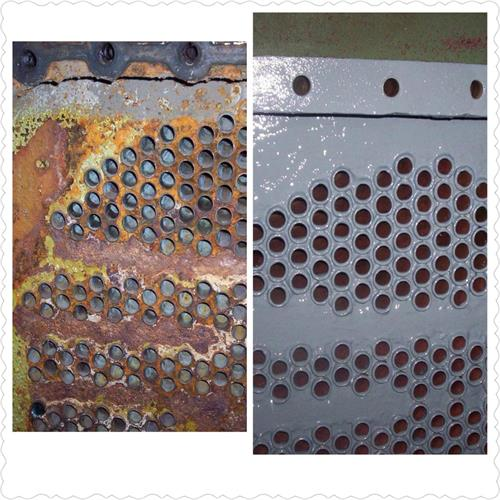 Heat exchanger repaired and coated with Belzona