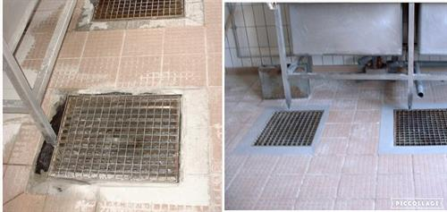 Commercial kitchen floor drain repaired