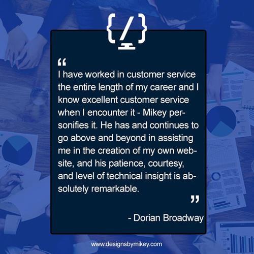 Dorian Broadway Testimonial