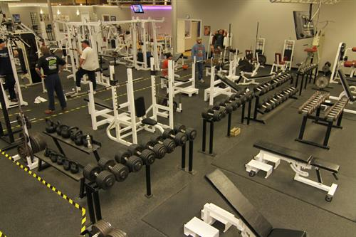 With over 7000 pounds, the most free weights in the area