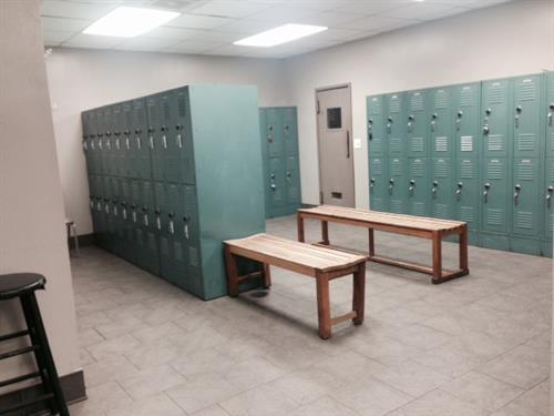 Spacious and clean the locker room areas