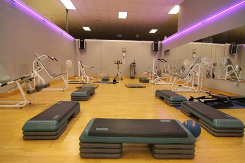 Three separate groups fitness rooms for classes as well as our new 24 hour streaming video classes