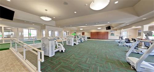 Our large therapy gym offers innovative equipment from Nautilus and Biodex.