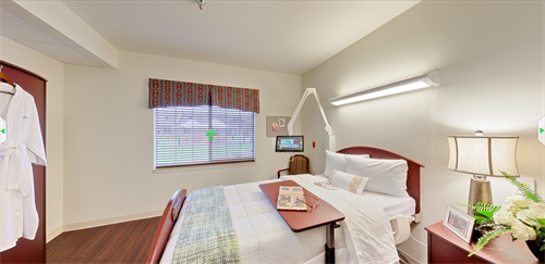 Spacious suites offer large private bathrooms and showers and the most home-like, holistic surroundings available