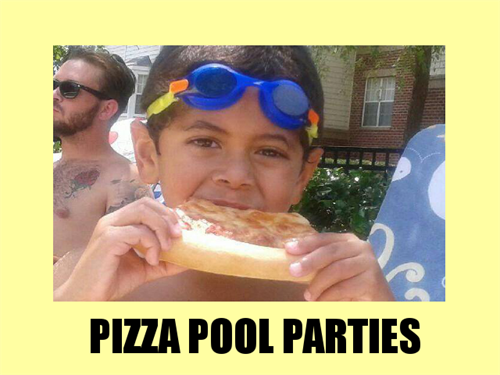 DJ Pizza Party: Music, games for the kids, pizza, wings and soda for one price!