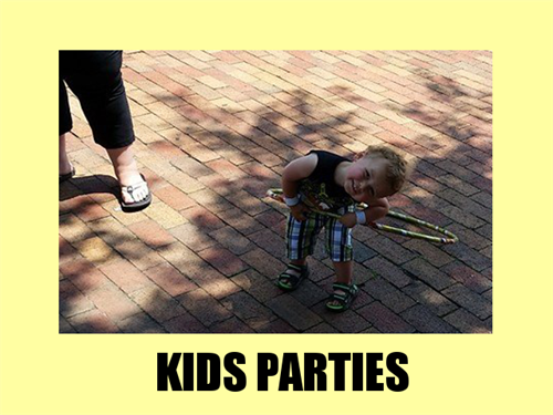 The most fun kids parties around! Any age from 2 to 20, we love to entertain your family!