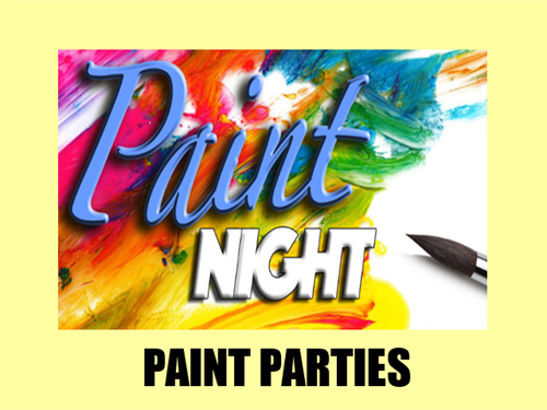 Paint Night with Caitlin, a new service, available for private parties, all ages