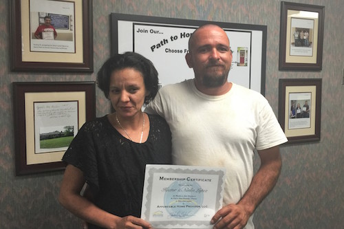 Hector and Nadia, starting the Path to Homeownership!