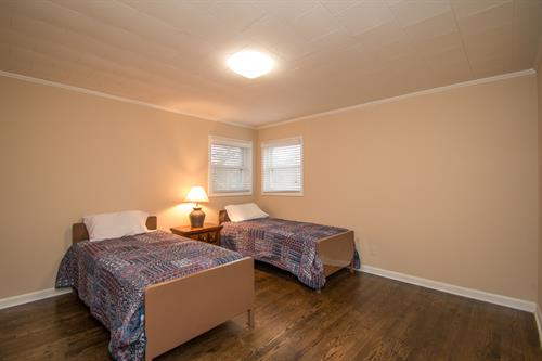 One of the bedrooms at the residential treatment center in Monroe
