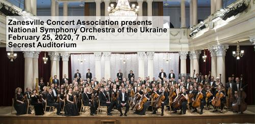 National Symphony Orchestra of the Ukraine February 25, 2020, 7p