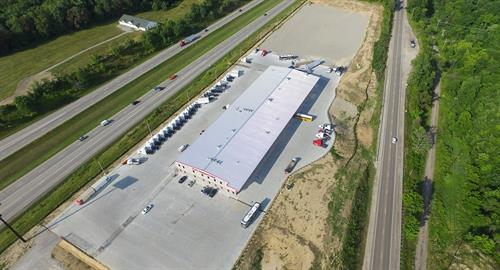 Aerial photo of our dealership located on I-70.