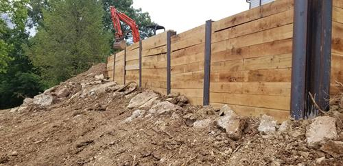 H Pile and Lagging Wall