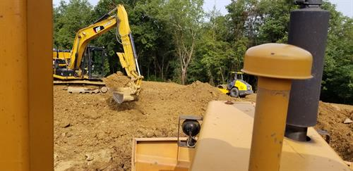 Dozer View Pond Construction