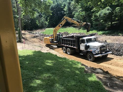 Mambourg Park Pond Construction