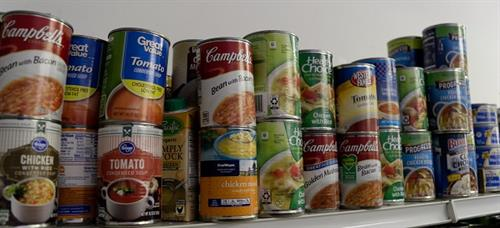 Canned goods are the staple of any good food bank.